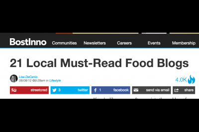 BostInno: 21 Local Must-Read Food Blogs